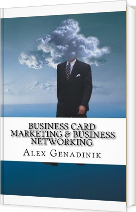 Business card marketing and business networking book